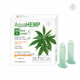 AquaHEMP CBD 5 Shot isolate