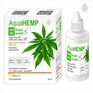 AquaHEMP CBD 300 Drops isolate